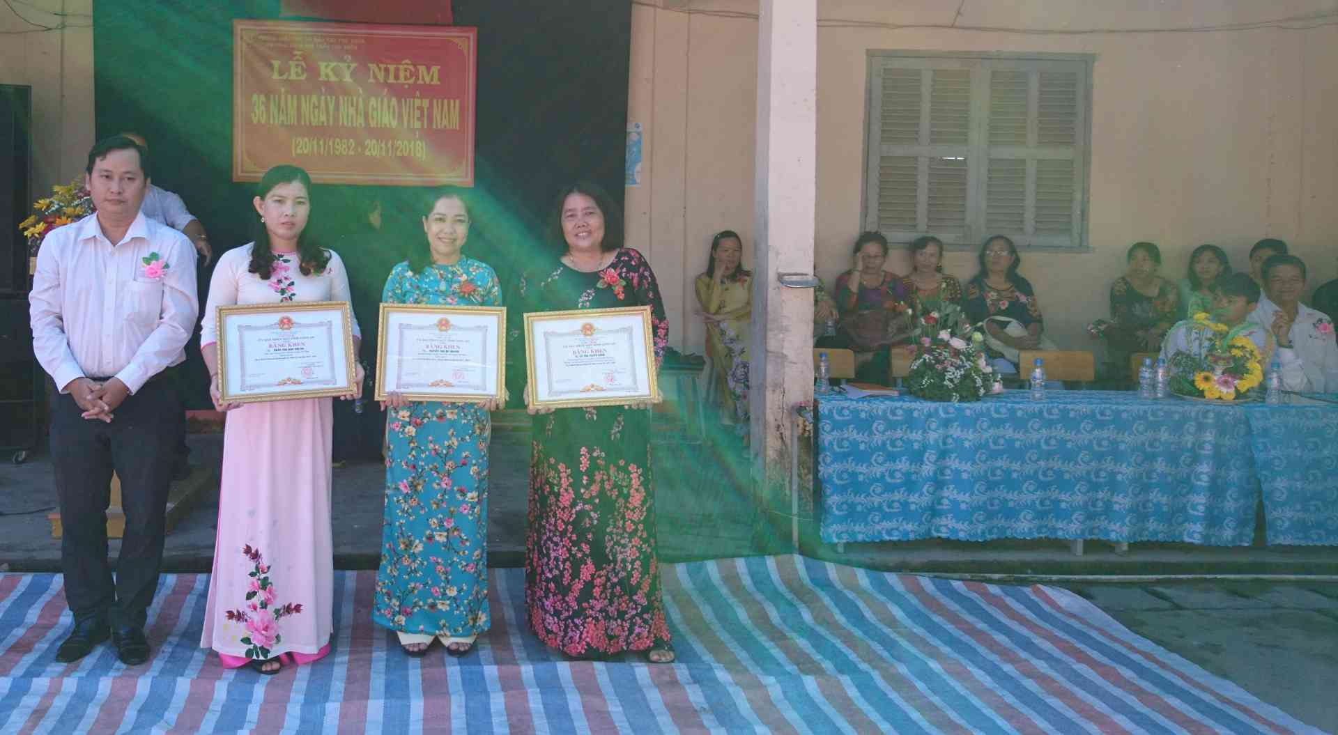Các cá nhân được nhận bằng khen của UBND Tỉnh NH 2017-2018